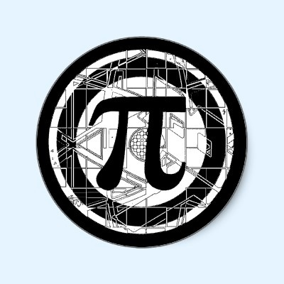 Awesome Pi Symbol  Pi Symbol sticker design by Mudge Studios. Don't be totally irrational, buy a pi tee for Pi Day. Great for Math Teachers, Math Class, Geeks and Nerds. I wish March 14th would never end.