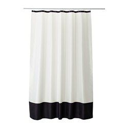 IKEA - FÄRGLAV, Shower curtain, Densely-woven polyester fabric with water-repellent coating.