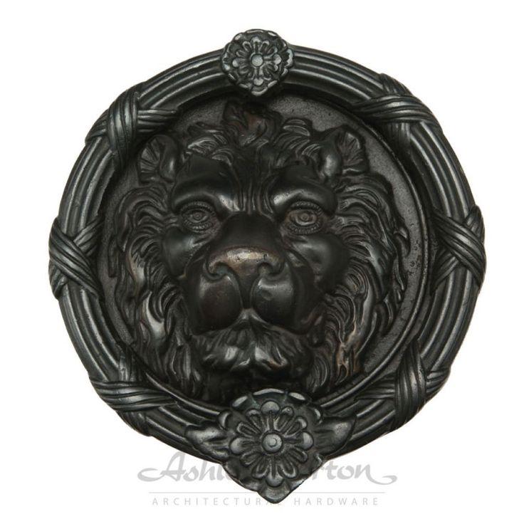 Grand heurtoir Lion Diam. 8''