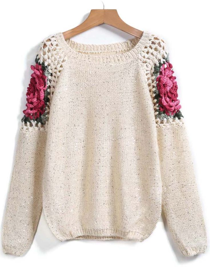 Shop Apricot Floral Crochet Hollow Loose Sweater online. Sheinside offers Apricot Floral Crochet Hollow Loose Sweater & more to fit your fashionable needs. Free Shipping Worldwide!