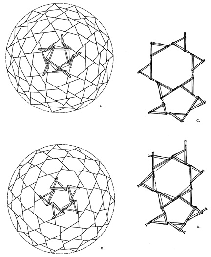 Geodesic Dome Template: 31 Best Rubber Band And Paper Models Images On Pinterest