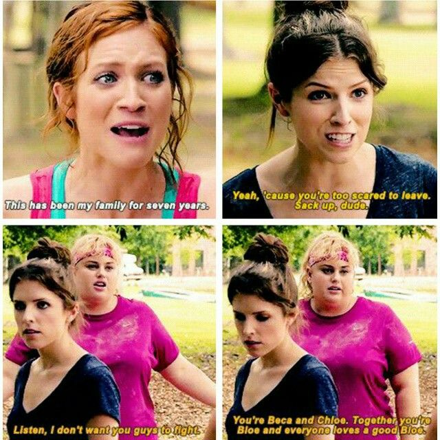 Oh just a Bechloe fight. Nothing big... Aka the scene should have ended with Chloe kissing Beca after Beca got out of the net