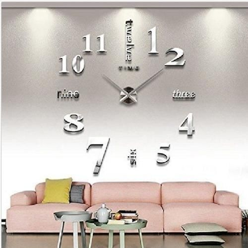 Modern Frameless Large  DIY Wall Clock Kit Home Living Room Bedroom Office Decor #CoZroom #Modern