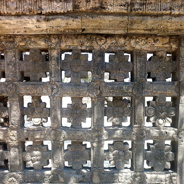 exquisite vibrant stone work, every surface intricately decorated