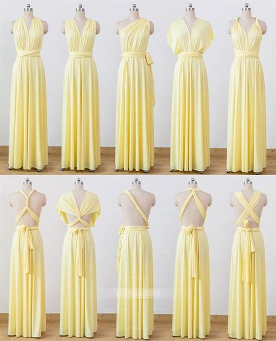 a36e4be9664 Yellow Convertable Dress