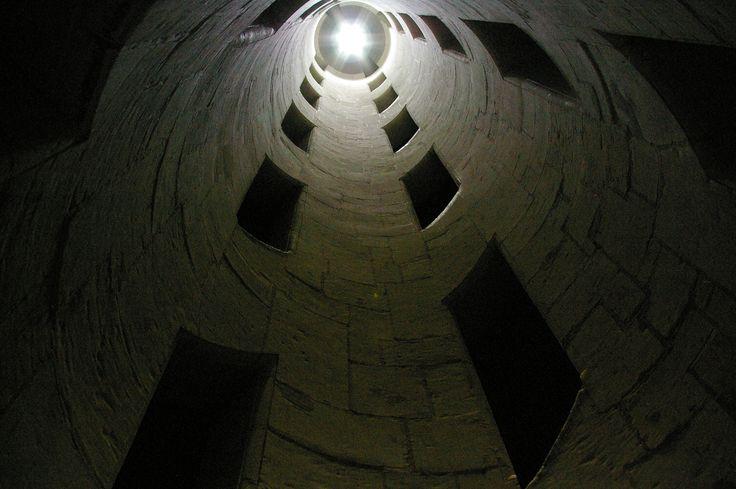 Le cœur de l'escalier à double révolution de Chambord