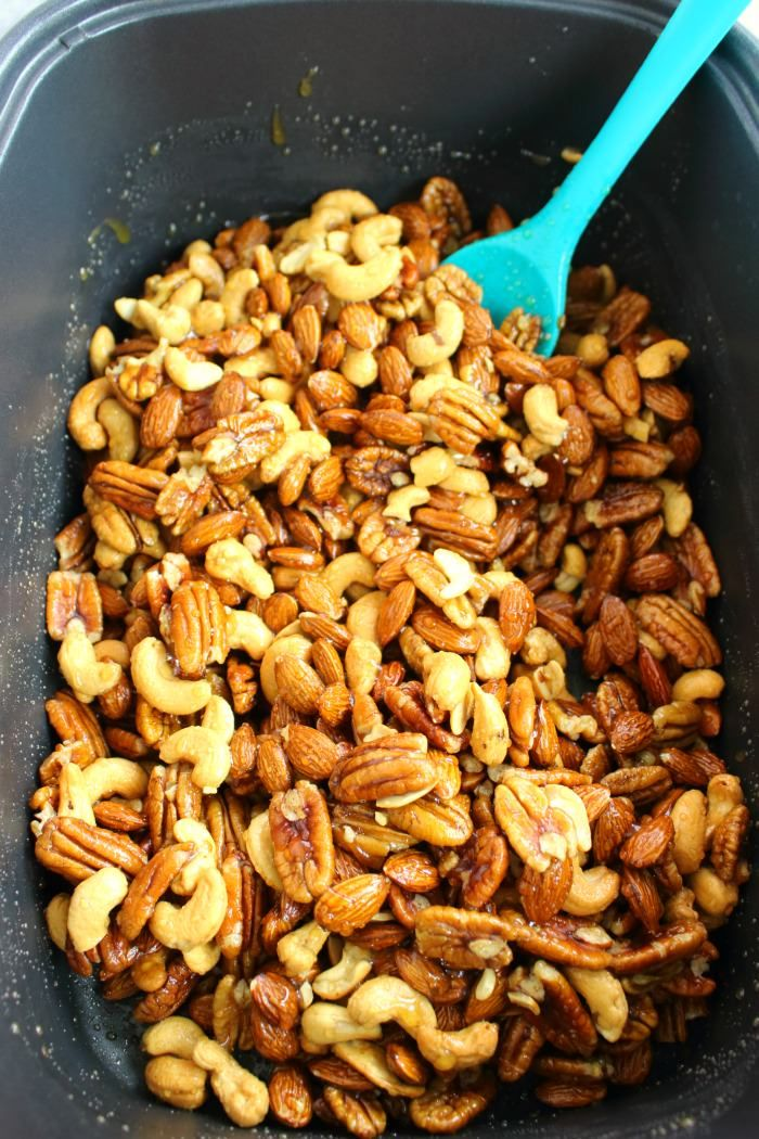 These Slow Cooker Honey Roasted Mixed Nuts are the perfect