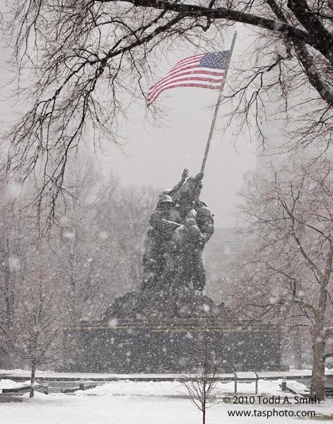 Iwo Jima in the Snow