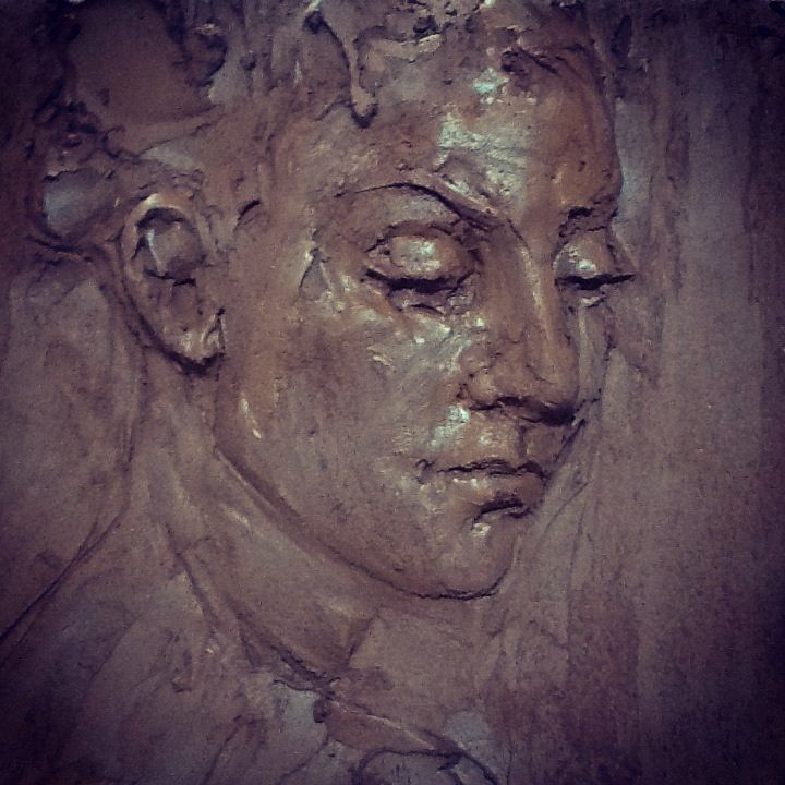 Clay relief portrait study by mary buckman marybuckman