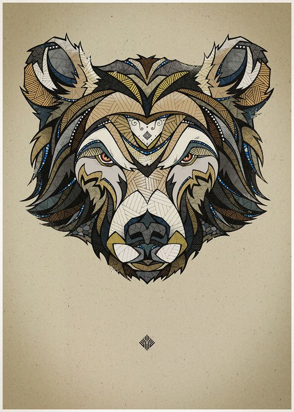 3 Animal Portraits by Andreas Preis, via Behance