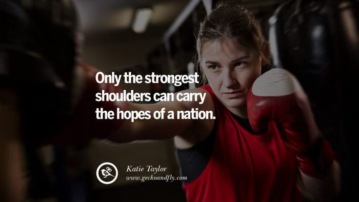 Only the strongest shoulders can carry the hopes of a nation. - Katie Taylor Boxing Motivational Inspirational Quotes By Olympic Athletes On The Spirit Of Sportsmanship facebook twitter pinterest