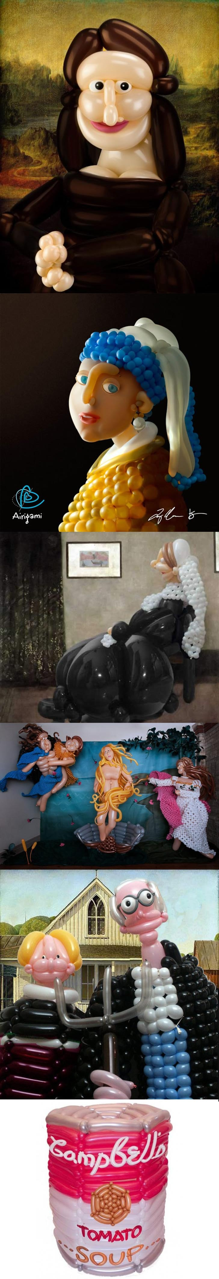 Balloon Sculpturing of Famous Art Pieces