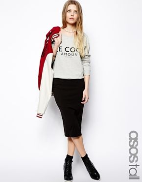 ASOS TALL Pencil Skirt In Jersey