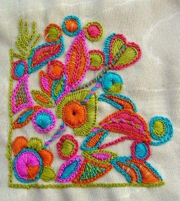 Colorido bordado