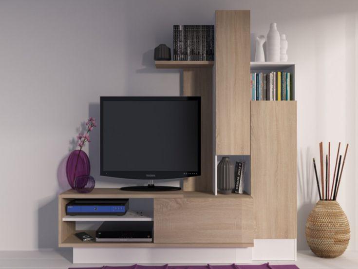 Mais de 1000 ideias sobre meuble tv pas cher no pinterest - Meuble tv avec rangement pas cher ...