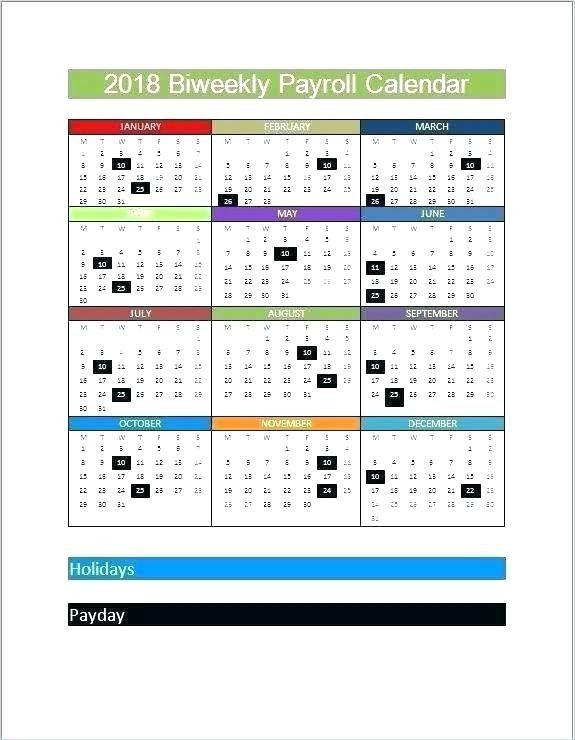25 Biweekly Payroll Calendar Template 2017 In 2020 Payroll