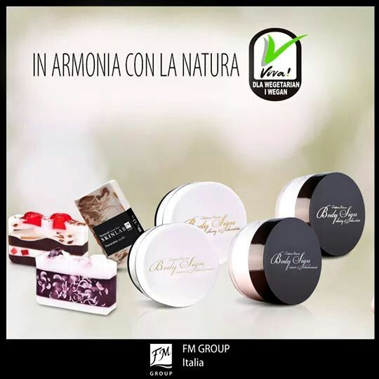 Due linee di Fm Group sono state ufficialmente premiate per la loro qualita'. Totalmente naturali e VEGANI (simbolo VIVA). Chiedimi dettagli