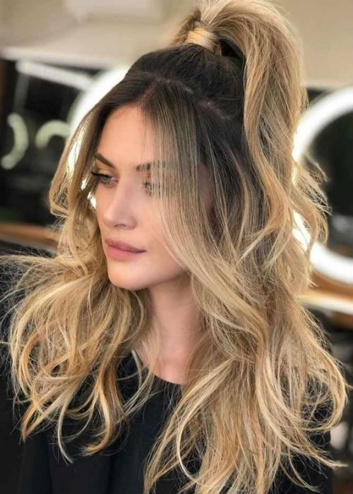 41 Of The Delightful High Pony Long Blonde Hairstyles 2019 Hair