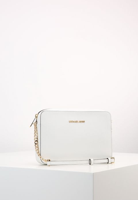45f892d3dbb73 MICHAEL Michael Kors JET SET TRAVEL CROSSBODY - Sac bandoulière - optic  white - ZALANDO.