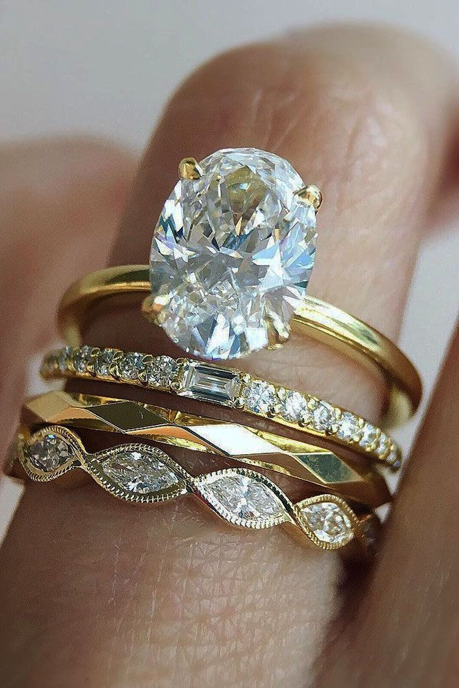 18 Perfect Solitaire Engagement Rings For Women ❤ solitaire engagement rings yellow gold oval diamond rings set ❤ More on the blog: https://ohsoperfectproposal.com/solitaire-engagement-rings/