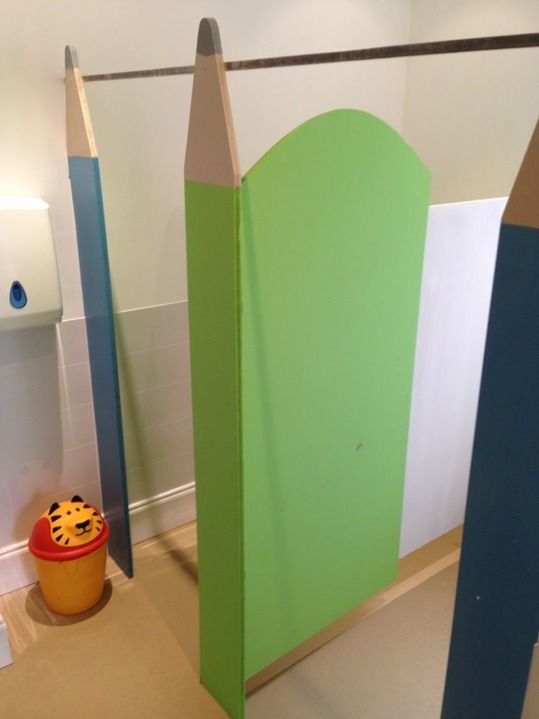 Nursery toilet cubicles pencil theme