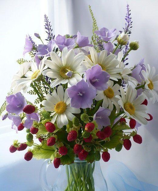 открытки полевые цветы в букетах фото правильно