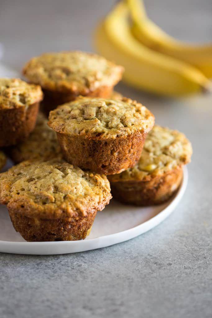 Banana Bran Muffins Recipe Banana Bran Muffins Bran Muffins Nutritious Snacks