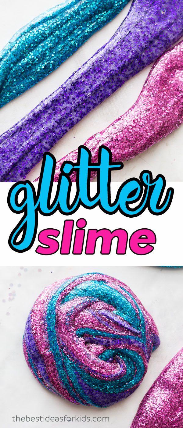 Glitter Slime The Best Ideas For Kids Glitter Slime Recipe Glitter Slime Slime Recipe
