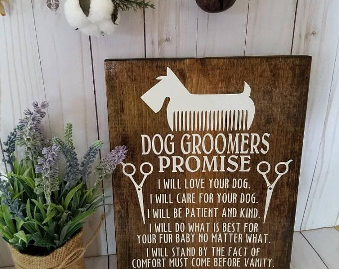 Dog Groomer Dog Grooming Business Sign Pet Sign Gift For Etsy