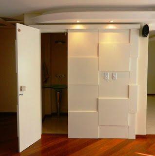 painel em mdf para esconder a porta