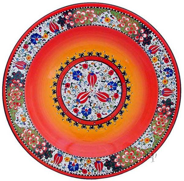 Diameter: 30 cm / 11.8 inch. Depth: 3.5 cm / 1.4 inch. Iznik Design Ceramic Turkish Plate ...