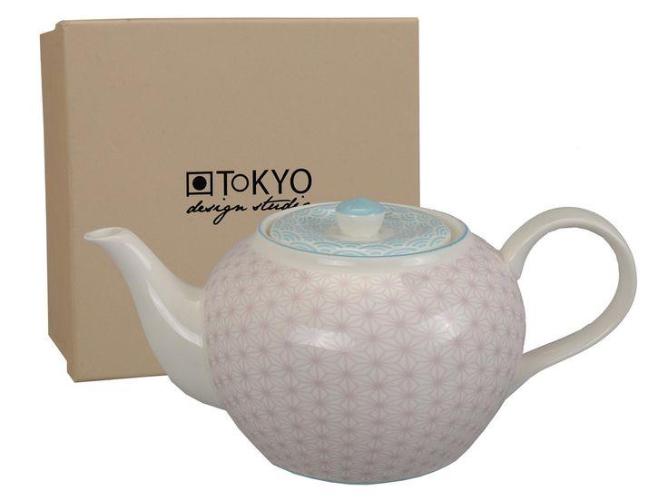 Théière en porcelaine motif japonais 1.2L 26x10.5x14.5cm STAR WAVE