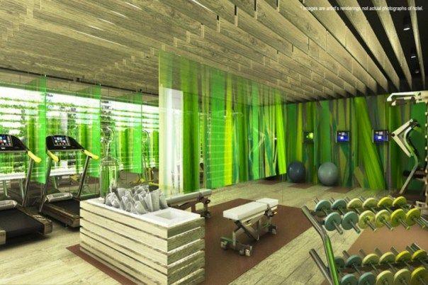 EVEN hotel gym, rendering