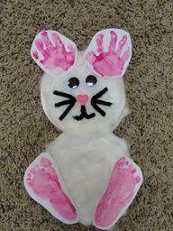Handprint  Footprint Bunny / Rabbit craft by Patricia J
