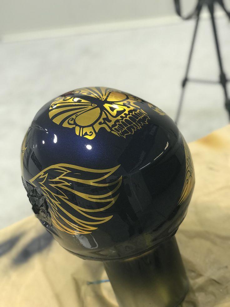 Custom painted helmet football helmets helmet paint