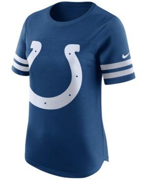 Nike Women's Indianapolis Colts Gear Up Fan Top T-Shirt - Blue XL