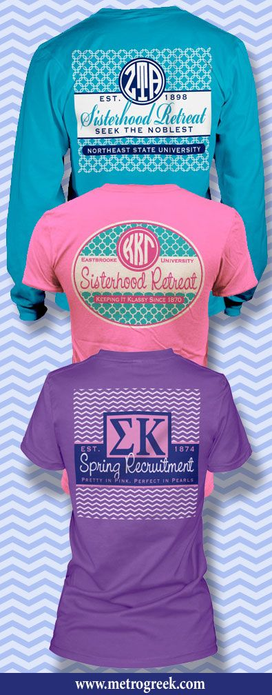 I love these shirts for recruitment or retreats!