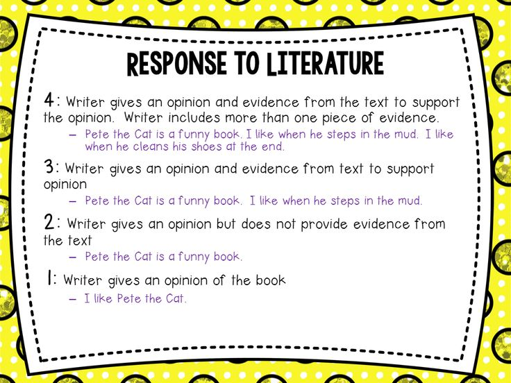 response to literature writing prompts California writing standard 22: write responses to literature students combine the rhetorical strategies of narration, exposition.