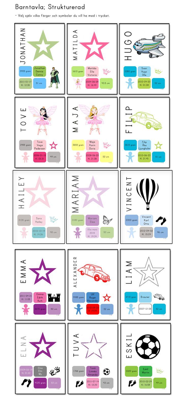 Alfabetstavla. Välj själv vilka färger du vill ha på motivet. Självklart ska du välja så att det passar in i just ert barnrum. Kanske pastelliga färger eller mer klara och klatschiga? Eller vill du kanske ge bort postern i doppresent eller som födelsedagspresent?