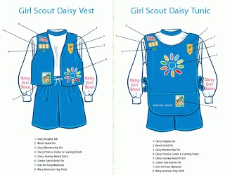 Girl Scout Daisy vest and tunic