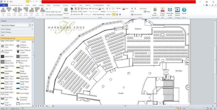 Great theatre style layout