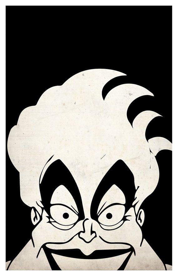 Juego de cartel de Villanos Disney Maléfica Ursula por PrintMadness