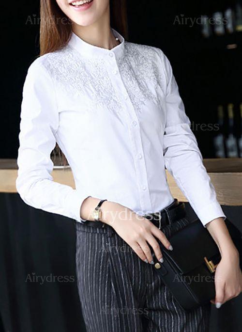 Camisa de gasa de lino blanca Carmela Rodriguez