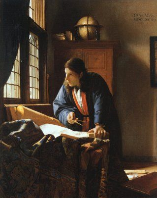 Jan Vermeer, The Geographer, possibly my all time favorite painter...