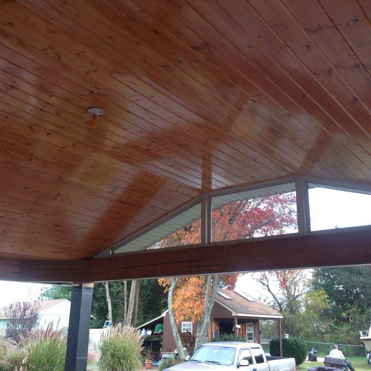 Pine ceiling for outdoor deck decor ideas pinterest decks pine