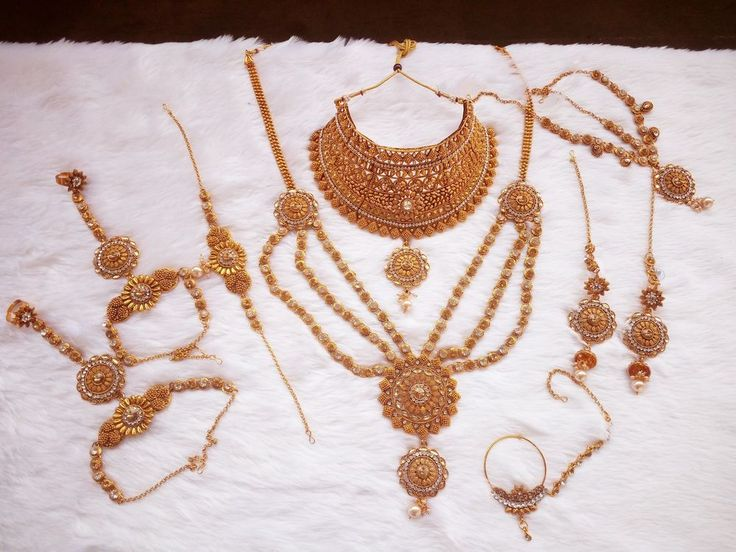 Ethnic Wedding Fashion Jewelry Indian Bridal Necklace Set Earring Tikka Women #vgstore