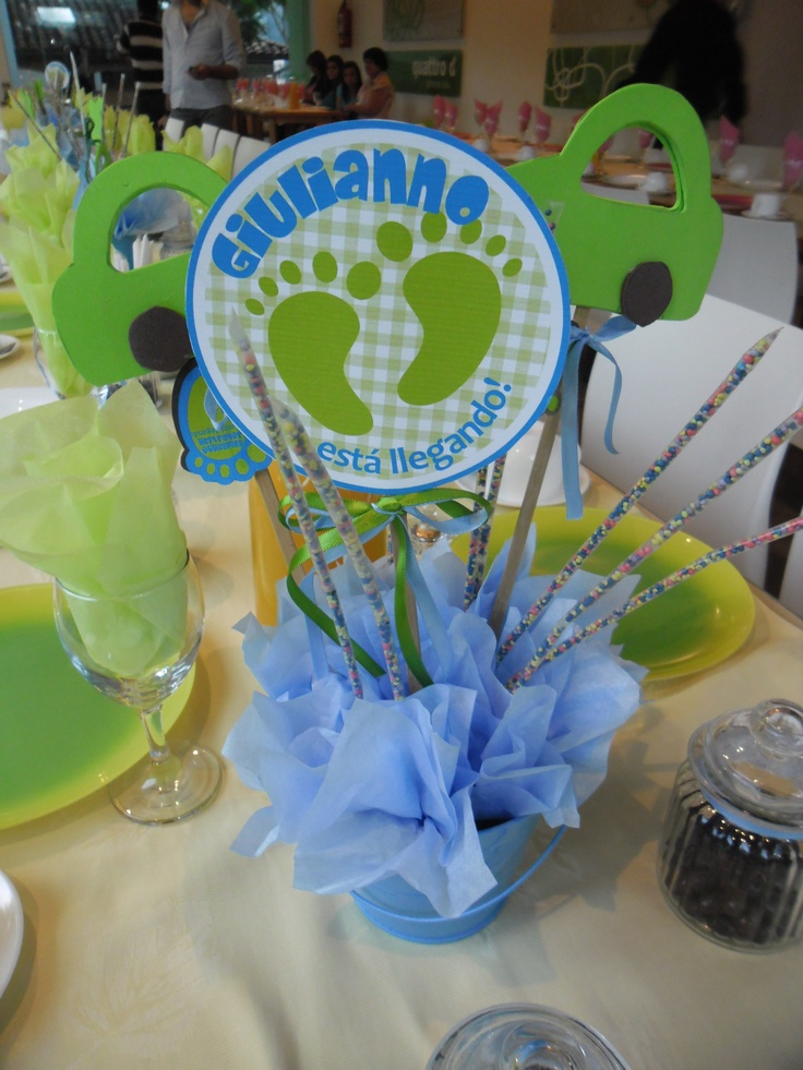 17 best images about baby shower on pinterest patrones for Ideas para centros de mesa