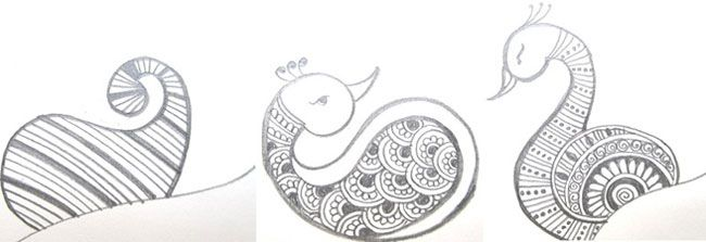 How to Apply #Henna #Designs – Step by Step Tutorial: How to draw peacock design using mehndi