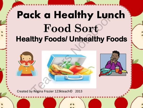 Healthy Food Choices Lesson Plans For Elementary