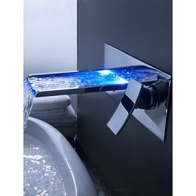 Farbwechsel LED Wasserfall Waschbecken Wasserhahn …
